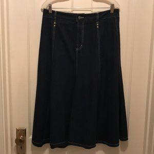 "Relativity Denim Skirt 30"" Long Size 14"